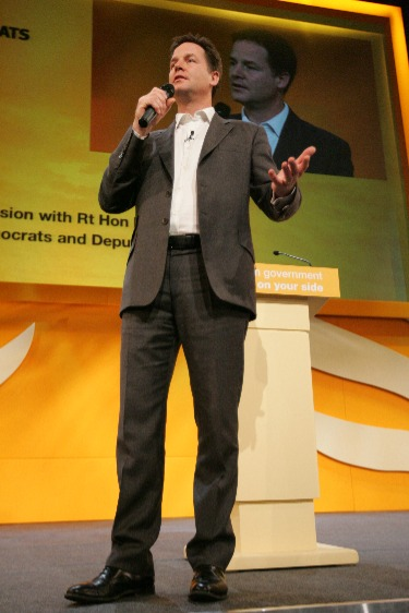 Image shows Nick Clegg, sometimes accused of coalition chaos.