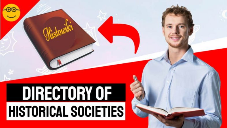 "Image shows the text: ""Directory Of Historical Societies""."