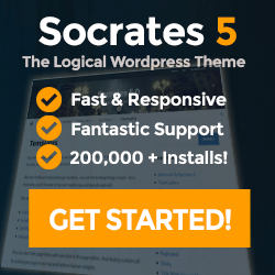Image is Socrates Theme sales banner