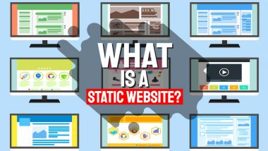 Featured article image with the text: What is a static website?