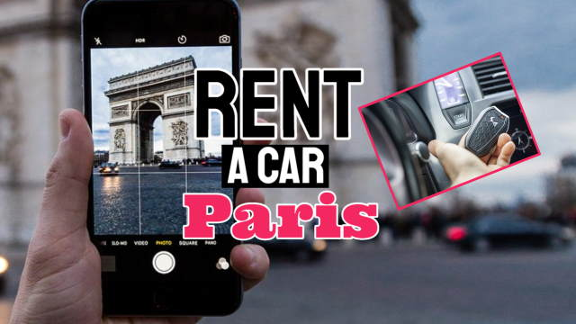 "Featured image which bears the text: ""Rent a car Paris""."