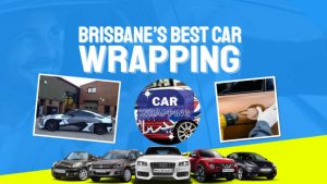 """Image text: """"Brisbanes best car wrapping""""."""