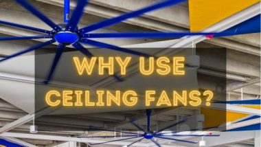 "Image text: ""Why use ceiling fans?"""