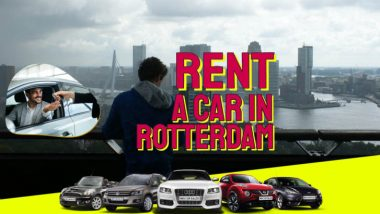 "Image text: ""Rent a car in Rotterdam""."
