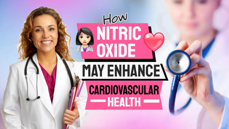 """Image text: """"Nitric oxide and cardiovascular health""""."""