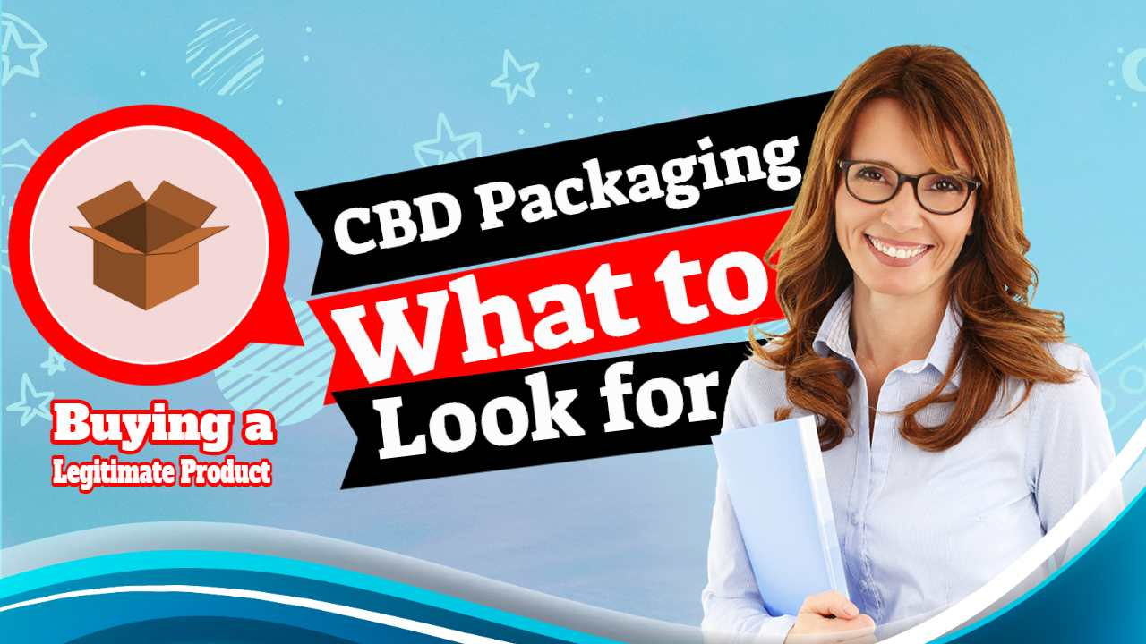 "Featured Image with text; CBD Packaging What to look Out for""."