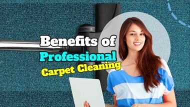 "Featured Image Text: ""Benefits of professional carpet cleaning""."