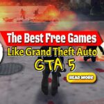 """Image text: """"Best Free games like Grand Theft Auto GTA 5""""."""