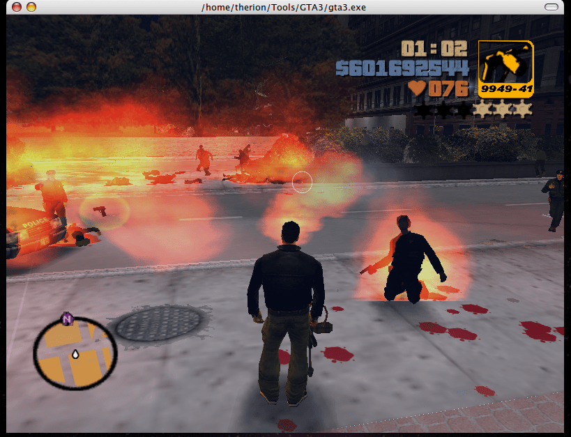 Image shows a violent scene typical of the best Free games like Grand Theft Auto GTA 5.