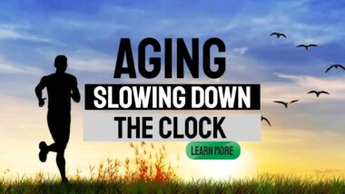 "Featrured image: ""Aging - Slowing down the clock""."