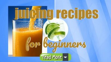 "Inmage text: ""Juicing Recipes for Beginners""."